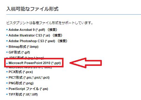 Vistaprintの入稿可能なファイル形式