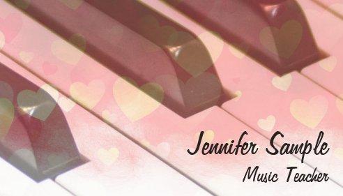 楽器デザインの名刺