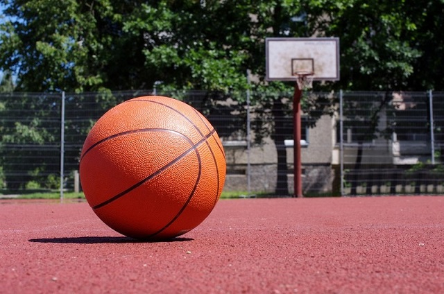 バスケットボールのデザインの名刺