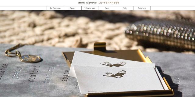 Bird Design Letterpress