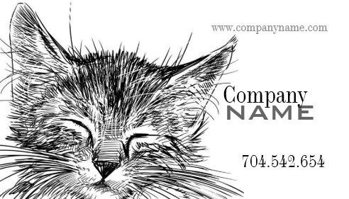 Pet獣医猫の子猫の猫の博士名刺