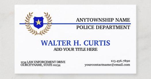 警察官名刺