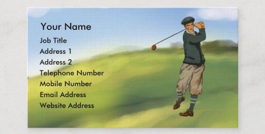 ゴルフデザインの名刺