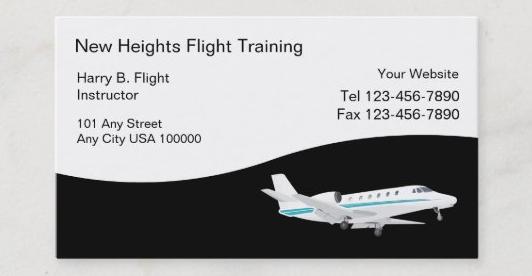 飛行機の名刺