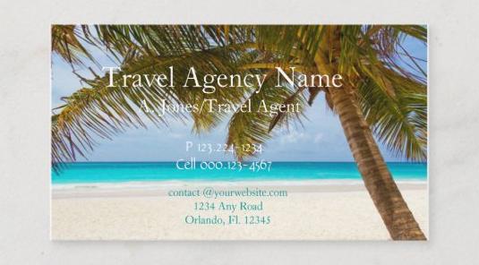 旅行代理店の名刺