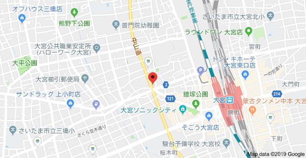 はんこ屋さん21大宮店の地図