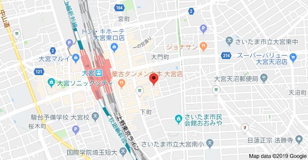 プロプリントの地図