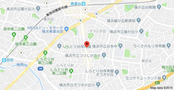 はんこ屋さん21横浜青葉台の地図
