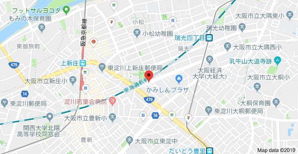プリンテックスの地図