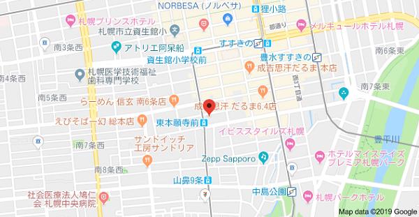プリントワークスの地図