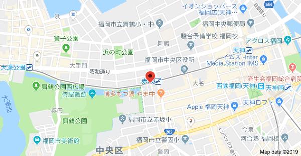 インプレス福岡株式会社の地図