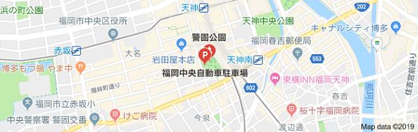 キンコーズ天神中央店の地図