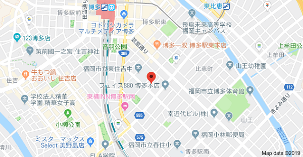 名刺ダイレクトの地図