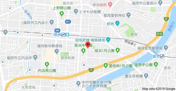 名刺堂本店の地図