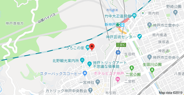 神戸名刺製作所の地図